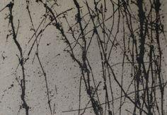 Dead Vegetation by Jo Hannah.  Underglaze on Stoneware. #Ceramics #Printmaking