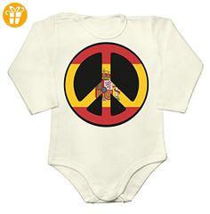 Spain Football 2016 Peace Sign Baby Long Sleeve Romper Bodysuit Extra Large - Baby bodys baby einteiler baby stampler (*Partner-Link)