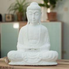 Buddha Figur, weiß, ca. 31 cm