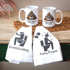 Bathroom Humor  Check out our New Products!  We have tea towels that fit every personality!  SHOP NOW >> www.femailcreatio... #UniqueGifts #GiftsForWomen #Gifts #GiftsForAllOccassions #InspirationalGifts #Love #NewProducts #TeaTowels #Deals