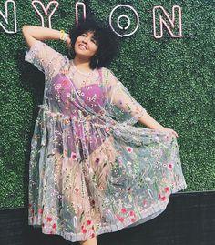 Plus size fashion Spring fashion Gabi gregg Fat Fashion, Curvy Fashion, Look Fashion, Autumn Fashion, Petite Fashion, Fashion Spring, Girl Fashion, Festival Outfits, Festival Fashion