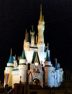 Night View, Magic Kingdom, Orlando, USA