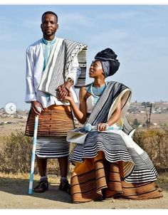 Xhosa Attire, African Attire, Couples African Outfits, African Fashion Dresses, Wedding Dresses South Africa, African Traditional Wedding, Ethnic Wedding, Couture Wedding Gowns, Africans