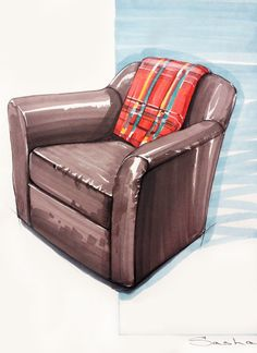 17 Ideas For Furniture Sketch Architecture Behance Interior Design Renderings, Interior Rendering, Interior Sketch, Interior Architecture, Sketch Architecture, Trendy Furniture, Types Of Furniture, Furniture Design, Vintage Furniture