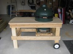 24 hours in and we have a Birds Nest table made from scratch. Big Green Egg has a home.