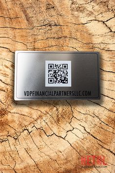 Did you know we can personalize your metal business card with a QR code to have your information retrieved quickly and easily? Add a QR Code to your business card today when you fill out a quote form on our website.