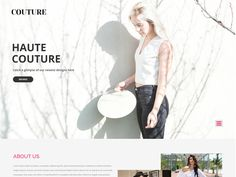 Couture is a clean and modern free responsive fashion Bootstrap template for fashion, beauty, modelling, portfolio, photography, blog, cosmetic. This template is tailored with HTML5, CSS3 and compatible with all web, mobile and tablet. Try it out today!