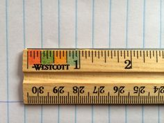 Teaching fractions of an inch…Color the ruler!