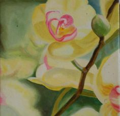 """""""Orchid 1/4"""" (2012). Oil on canvas. 20cm x 20 cm (SOLD)"""
