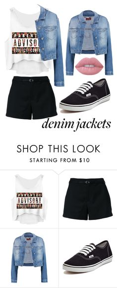 """""""Denim Jackets"""" by victoria-muzio ❤ liked on Polyvore featuring Loveless, 7 For All Mankind, Vans and Lime Crime"""