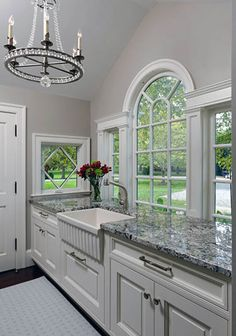 Choosing Your New Kitchen Countertops Blue Kitchen Countertops, Kitchen Countertop Materials, Kitchen On A Budget, New Kitchen, Kitchen Decor, Awesome Kitchen, Traditional Kitchen, Kitchen Design, Inset Cabinets