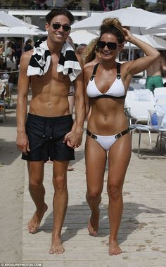 Sam Faiers.. Sexy triangle bikini with black racer back suspender straps from Anna Lous..