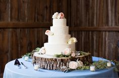 Our beautiful, locally carved Wood Wedge works great for displaying your reception cake! Sophia's Bridal, Sweets Cake, Occasion Cakes, Mustard Seed, Event Photography, Celebration Cakes, Custom Cakes, Cake Pops, Rustic Wedding