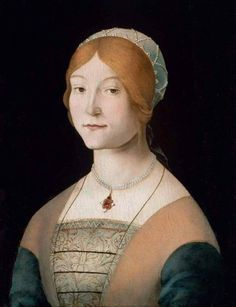 Lorenzo Costa, Portrait of a Woman with a Pearl Necklace, c. 1485-95, Boston, Museum of Fine Arts