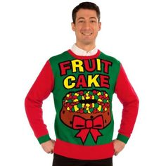 Ugly Christmas Sweater Men Large XL Red Sexy Funny Fruit Cake LGBTQ Gay Gag Gift in Clothing, Shoes & Accessories, Men's Clothing, Sweaters | eBay