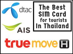 The best Thailand tourist SIM card - www.traveltomtom.net