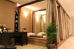 traditional massage white lotus thai White Lotus Traditional Thai MassageYou can find Thai massage and more on our website Massage Room Design, Massage Room Decor, Massage Therapy Rooms, Spa Room Decor, Spa Interior Design, Spa Design, Spa Treatment Room, Spa Rooms, White Lotus