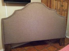 My king size nailtrim headboard...  Hubby made it and i love it!!!