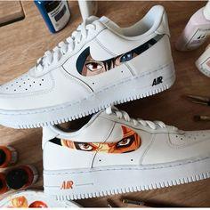 Air Force 1 custom Naruto Sasuke Uchiha Custom Shoes Sasuke Eyes, Naruto And Sasuke, Air Force 1, Nike Air Force, On Shoes, Me Too Shoes, Custom Jordans, Painted Canvas Shoes, Vans Sneakers