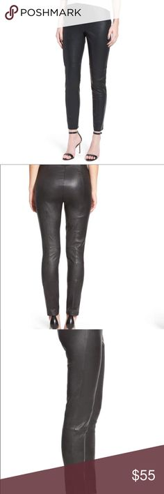 """Nordstrom Liliana Faux leather leggings! These Cupcakes and Cashmere leggings are thick and soft as butter! 28 1/2 inseam; 11"""" leg opening; high rise and fits true to size! Cupcakes & Cashmere Pants Leggings"""