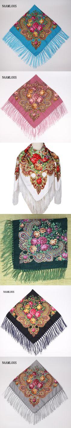 2017 Brand Fashion Shawl Scarf Long Winter Tassel Bohe Cotton Square Pattern Scarf Women Printed Oversize Wraps Shawls Scarves
