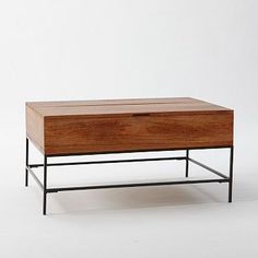 Rustic Storage Coffee Table - Storage + extends to be table top $549