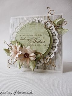 Kochanej Babci (Gallery of handicrafts) Paper Cards, Diy Cards, Heartfelt Creations Cards, Shabby Chic Cards, Spellbinders Cards, Marianne Design, Pretty Cards, Flower Cards, Creative Cards
