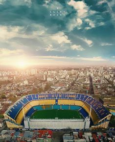 La Bombonera, estadio de Boca Juniors. Argentina. Soccer Stadium, Football Stadiums, Football Jerseys, Messi, Football Wallpaper, World Of Sports, Football Cards, Real Madrid, Around The Worlds
