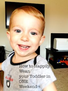 How to HAPPILY wean your toddler in ONE weekend.  It can be done!  Here's the why and how!