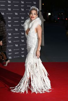 The 10 Most Memorable Red Carpet Looks of 2014 - Rita Ora in Roberto Cavalli