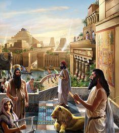 Artistic vision of ancient Babylon.