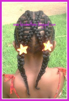 cute hairstyle Lil Girl Hairstyles, Girls Natural Hairstyles, Natural Hairstyles For Kids, My Hairstyle, Braided Hairstyles, Natural Girls, Little Girl Braids, Braids For Kids, Girls Braids