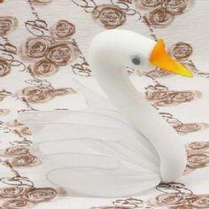 Handmade nylon product, wires and Nylon, Swan, 1 Animal, 13cm x 8cm x 10.5cm, [SW071]