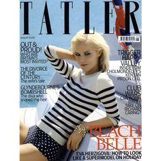 Tatler Cover August 2009 Shot #1 - MyFDB ❤ liked on Polyvore featuring covers and eva herzigova