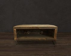 Reclaimed Wood Media Console / CORNER UNIT by AtlasWoodCo on Etsy, $495.00