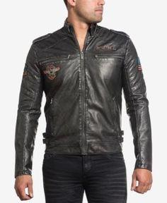Afflictions Men's Moto Rally Jacket - Assorted
