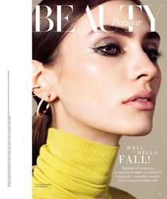 Marine Deleeuw Wears Cool Girl Beauty in Harper's Bazaar Latin America