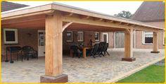 Afbeeldingsresultaat voor houten overkapping douglas