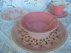 Hey, I found this really awesome Etsy listing at https://www.etsy.com/listing/79927362/vintage-mikasa-pastelle-pink-and-the