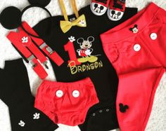 5-pc Set Mickey mouse Inspired Birthday by HaruHoneyBeeCreation