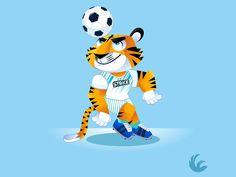 Tigers Soccer Team Mascot tiger mascot tiger character soccer mascot Soccer Pics, Soccer Pictures, Team Mascots, Tiger Art, Clemson, Tigger, Disney Characters, Fictional Characters, Cute