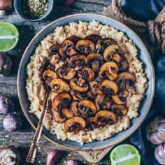 Creamy Mushroom Risotto (Vegan + GF) – Bianca Zapatka