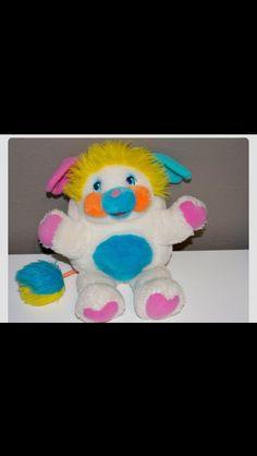 Puffball Popple plush - vintage 1980s toy