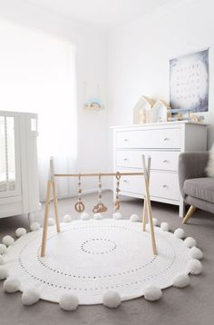Neutral white and wood nursery Baby room Wood Nursery, Nursery Modern, Nursery Neutral, Nursery Room, Nursery Decor, Natural Nursery, Neutral Nurseries, Elephant Nursery, Nursery Ideas