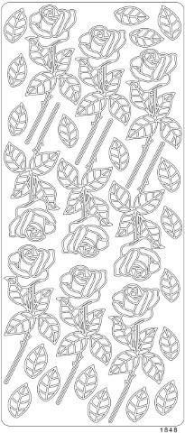 Ääriviivatarrat, Varsiruusu, kulta ja hopea
