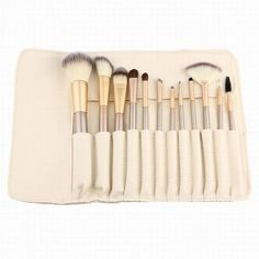 Cheap brush cosmetic, Buy Quality makeup brush set directly from China brush set Suppliers: Rose gold Makeup Brushes set Foundation Eyeshadow make up brush Cosmetics with Leather Toiletry Kits Pincel Maquiagem Eye Makeup Brushes, It Cosmetics Brushes, Makeup Tools, Makeup Cosmetics, Hair Makeup, Blusher Makeup, Teen Makeup, Buy Makeup, Makeup Artists