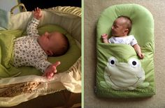 """Kellan Loves His Googly Green Frog Nap Mat!!! As you can see from the photos, Kellan is a cute little man who enjoys his nap mat. Our thanks to mum Charlotte who told Nonna """"Used it in the pram in his Moses basket and his cot... definitely our best purchase!"""" Nonna is happy! :-)"""