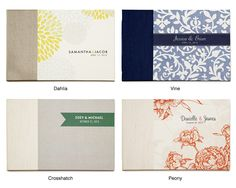 guest books- pretty covers