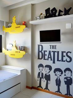 A boa música norteando a decor by arq Amanda Miranda Baby Bedroom, Baby Boy Rooms, Baby Room Decor, Kids Bedroom, Bedroom Decor, Beatles Nursery, Ideas Dormitorios, Kids Decor, Home Decor