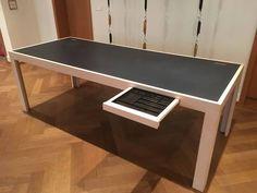 Schreibtisch Bürotisch aus Ahorn / Linol in zürich kaufen bei ricardo.ch